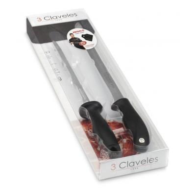 3 Claveles Set Ham knife + Sharpener 01721