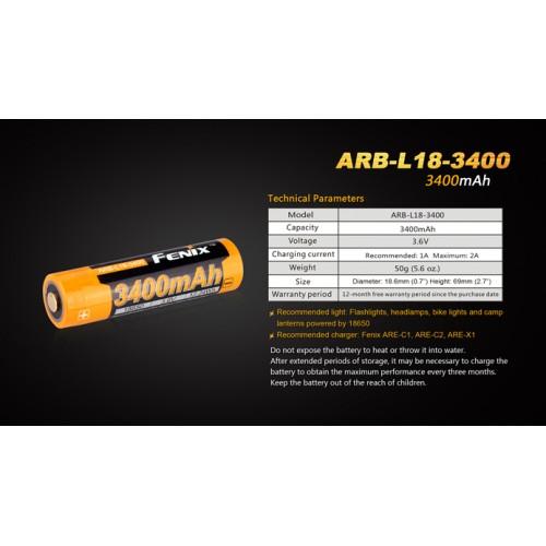 Fenix Bateria arb-l18-3400 mah