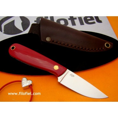 Enzo Necker 70 Red Micarta 9819 Leather