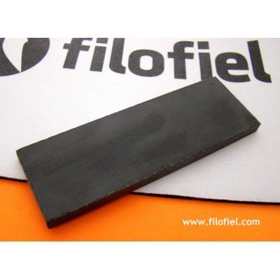 Placa Micarta Jute Black 120x40x6 mm. 8142
