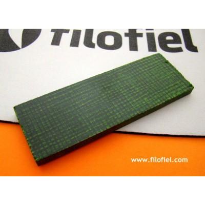 Micarta Jute Green120x40x6 mm. 8133
