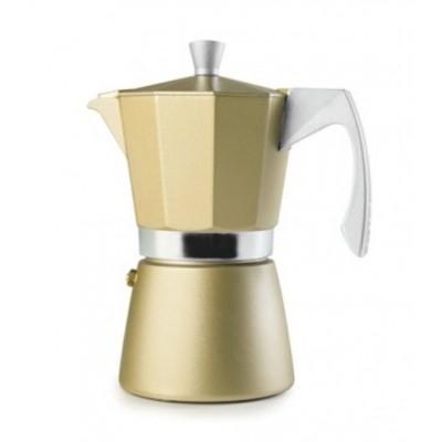 Ibili Cafetera EVVA 6 tazas dorada 623906