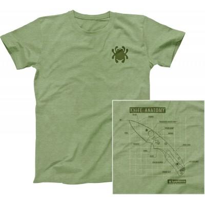 Spyderco Camiseta Knife Anatomy Talla M