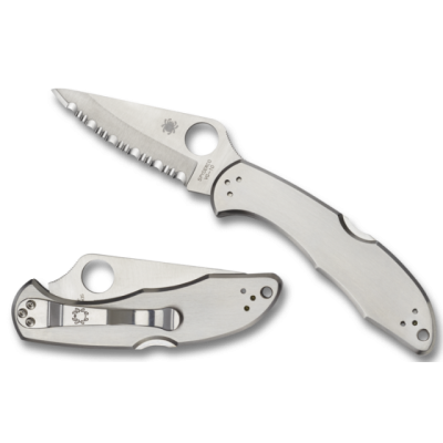 Spyderco Delica 4 stainless serrated sc11s