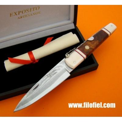 Exposito Std503mdma machete damasco ivory ironwood