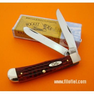 Case Trapper Red Pocket Worn ca783
