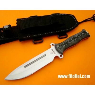J&V Cda Combat black Micarta nylon